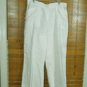 NWT Chico's Optic White Linen Wide Leg Pants